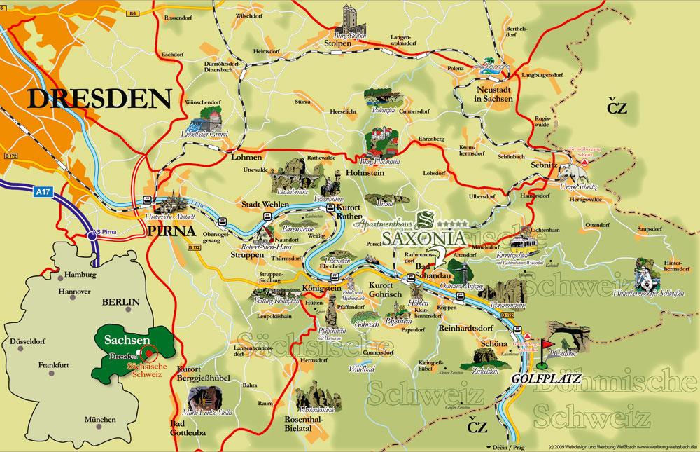 böhmische schweiz karte Golf & Natur   Golfurlaub in der Sächsisch Böhmischen Schweiz